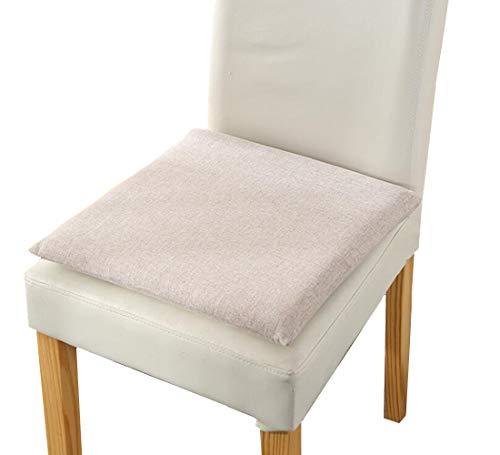 Ecloud Shop - Cuscino quadrato per sedia da pranzo, 2 pezzi, in memory foam, per esterni, patio, sala da pranzo, giardino, ufficio, colore: grigio