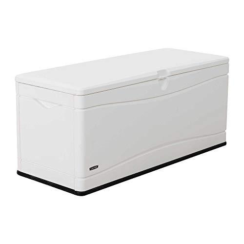 Lifetime 60348 Marine Dock, 130 Gallon Deck Box, Arctic White