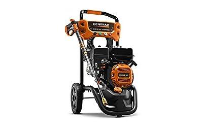 Generac G0071431 Residential 3100PSI E-Start Power Kit (Broom + soap Blaster) 50-State/CSA Pressure Washer, Orange, Black