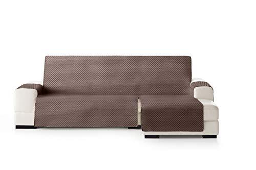 Eysa Oslo Salva, Microfiber, C/7 Marrone-Visone, Penisola 290 cm. Adatto per divani da 300 a 350cm
