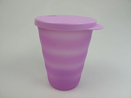 TUPPERWARE Junge Welle Trinkhalmbecher 330 ml lila Trinkhalm Becher 15546