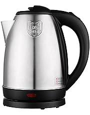 Elektrische Ketel, 1500W Rvs Draadloze Snel Kokende Waterkoker Voor Heet Water Thee Koffie, Automatische Uitschakeling & Droogkookbeveiliging,Silver,1.8L
