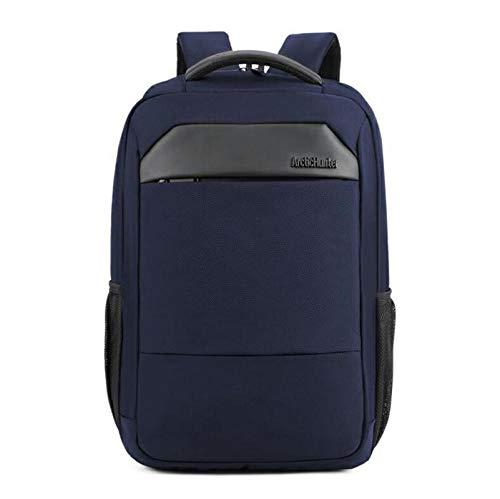 Laptop Bag Backpack New Casual Male Men'S Shoulder Bag Nylon Waterproof College Students Bag Computer Bag Backpack Schoolbag Blue Free Fast Delivery