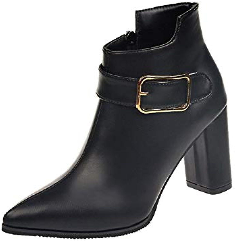 HOESCZS Frauen Schuhe Martin Stiefel Frauen Herbst Und Winter Kurze Stiefel Mode Wies Hochhackige Schuhe Kurze Stiefel Mode