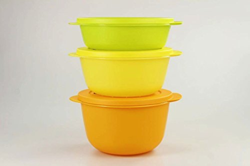 Tupperware 31051 CrystalWave - Microondas (2 L, 1,5 L), color naranja y amarillo