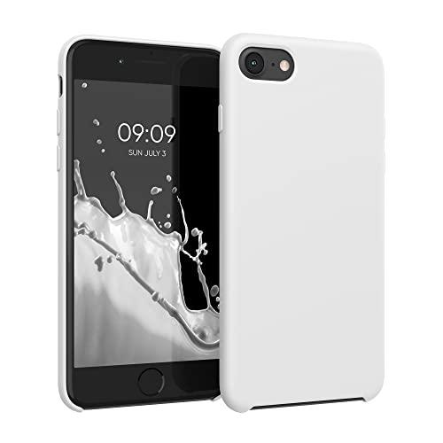 kwmobile Custodia Compatibile con Apple iPhone 7/8 / SE (2020) - Cover in Silicone TPU - Back Case per Smartphone - Protezione Gommata Bianco
