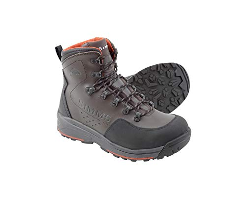 Simms Men's Freestone Wading Boots, Waterproof Rubber Sole, Dark Olive, 11
