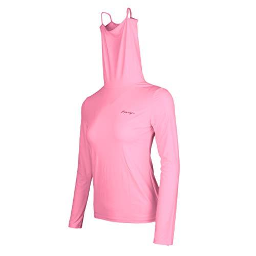 Sharplace T-Shirt Blanche Femme Vêtements de Golf Veste Polo Confortable Veste de Sport - Blanc s, Rose m
