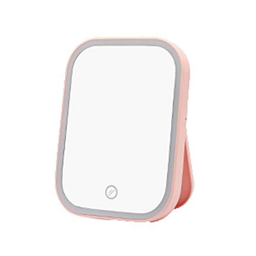 YYF Tragen LED Schminkspiegel Schminkspiegel weiblich Lichtgefüllter, tragbarer, füllender, lichtfüllender Kleideverband Einfach (Color : Pink)