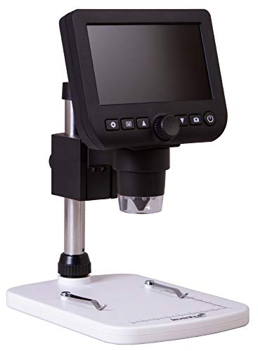 Levenhuk DTX 350 LCD Portable Digital USB Microscope with 20-600x Zoom Magnification for Close Work in Electronics, Jewelry, Biology, Zoology