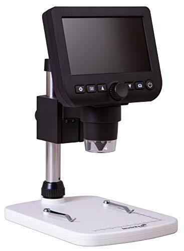 Microscopio Digital USB Portátil Levenhuk DTX 350 LCD con un Rango de Ampliación del Zoom de 20–600x para Trabajos de Cerca en los Ámbitos de la Electrónica, la Joyería, la Biología y la Zoología