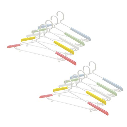 KOKUBO 洗濯ハンガー 10本組 NUEVO すらいどぷれーんはんがー (型くずれ防止/伸縮式/肩幅調節/衣類用/洗濯/物干し/乾きやすい)