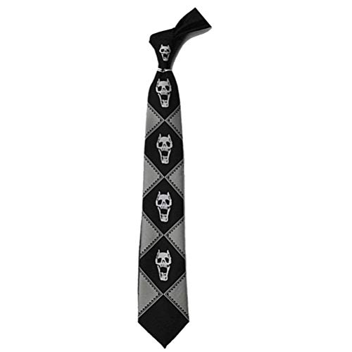 Lonme Corbatas Neckties JoJo's Bizarre Adventure KILLER QUEEN Kira Yoshikage Skull Neck Tie Cosplay Costumes (BLACK)