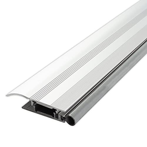 Alumat - Rostfreie Universal Alu Türschwelle - Perfekt als Zugluftstopper für Türen, als Ungezieferschutz oder Wetterschenkel