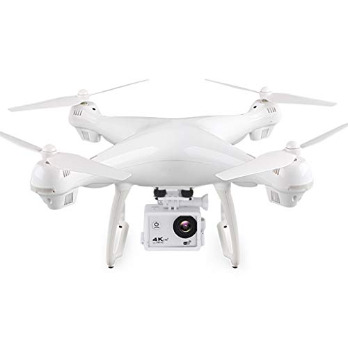 MJ-Brand Professionelle Drohne - mit 16 Millionen Pixeln 4K HD-Luftbild GPS-Quadrocopter EIN-Knopf-Start - Landung und Rückkehr Automatische Sperre Folgen (2-teilige UAV-Batterie)