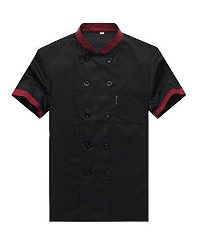 Camisa de Cocinero Cocina Uniforme Manga Corta