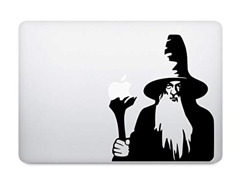 Gandalf Decal - Lotr Decal - Lord of the Rings Decal - Macbook Decal - Laptop Decal - Car Decal - Bumper Sticker gemakkelijk aan te brengen en te verwijderen