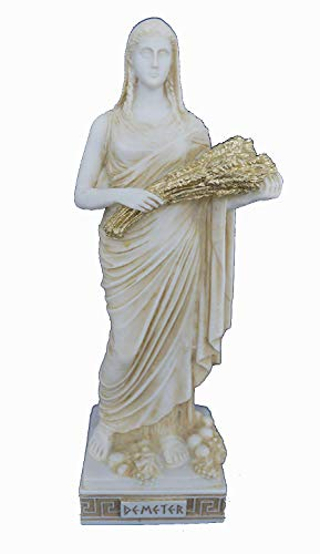 Estia Creations Demeter Skulptur Aged-Statue Antiken Griechischen Göttin der Landwirtschaft