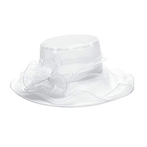 Greetuny 1X Pamelas Mujer Elegante Encaje Sombrero ala Ancha Temperamento Retro Flor...