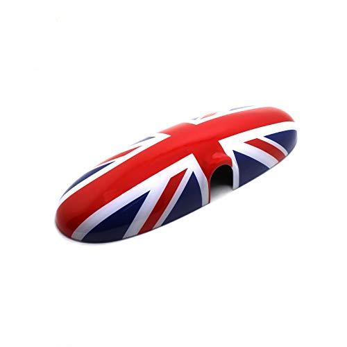 YaaGoo Innenspiegel-Abdeckung, für R50 R52 R53 R55 R56 R57 R58 R59 R60 R61 Mini (Union Jack, R50 R52 R53 2000-2003)