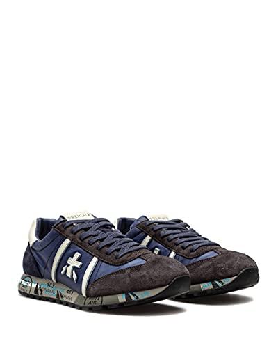Zapatos Hombres Sneakers PREMIATA Lucy 4931 Gamuza Nylon Azul Oscuro