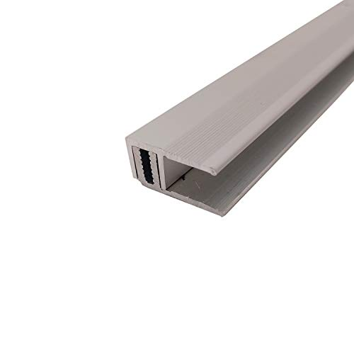 ufitec Profilsystem für Parkett- und Laminatböden - für Belagshöhen von 7-16 mm - viele Farben lieferbar (Abschlussprofile 100 cm lang, Silber)