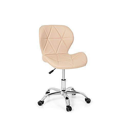 Cadeira Office Eiffel Slim Base Giratória - Nude