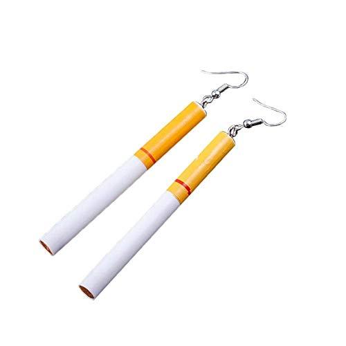 Vektenxi Frauen simulieren Zigarette-förmige Ohrringe lustige anhänger Party Club Ohrstecker chic kreative langlebig und nützlich