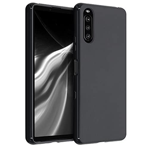 kwmobile Hülle kompatibel mit Sony Xperia 10 III - Hülle Silikon - Soft Handyhülle - Handy Case in Schwarz