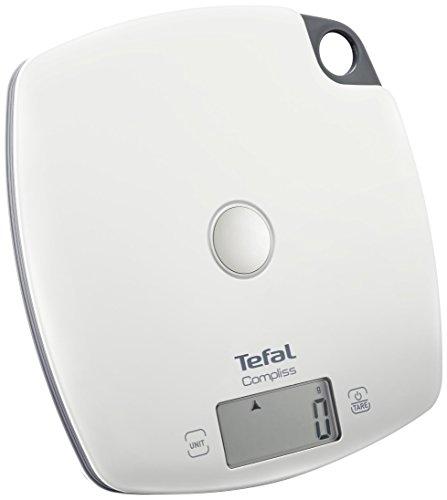 Tefal BC1000V0 - Báscula de cocina con precisión (5 kg/1 g), color blanco