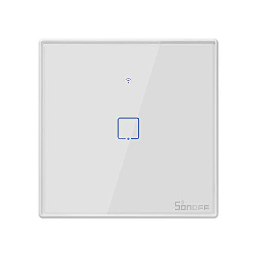 OWSOO SONOFF 1CH Interruptor Táctil de Pared, Interruptor Inteligente WiFi con Control de Voz/App/Táctil