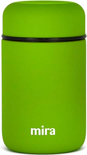 MIRA Lunch, Food Jar   Vacuum Insulated Stainless Steel Lunch Thermos   13.5 oz   Cactus Green