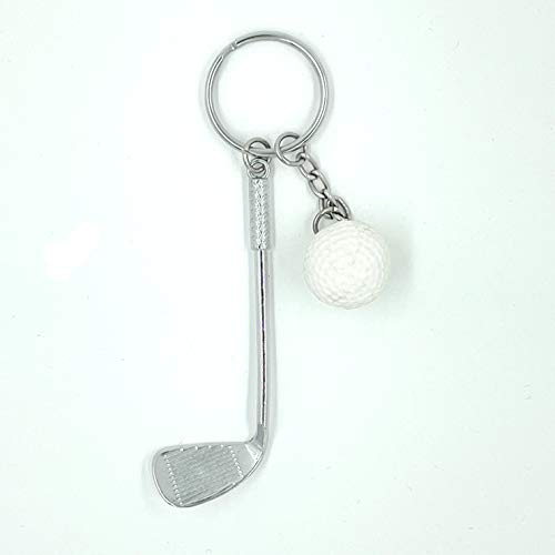 4MA Schlüsselanhänger im Golfschläger-Design mit Golfball, geeignet als Geschenk für Golfer