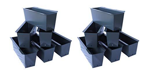 ARTECSIS Pflanzkasten Europalette 12er Set Anthrazit Aus Metall Blumenkasten Balkonkasten Blech Einsatz Für Paletten