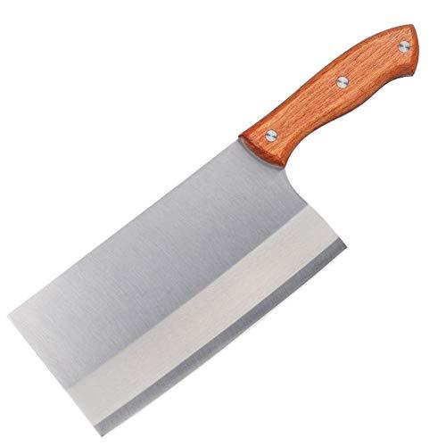NEWRX Chinois Cleaver Cutter en Acier Inoxydable Couteau de Cuisine Pleine Tang poignée Hacher Slicer Cuisine Outil Accessoires de Cuisine