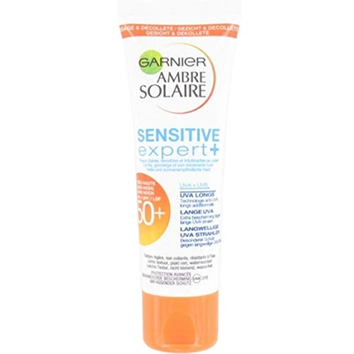 Garnier Ambre Solaire Lot de 6 flacons de crème solaire F50 Sensitive pour peaux légères et sensibles 50 ml