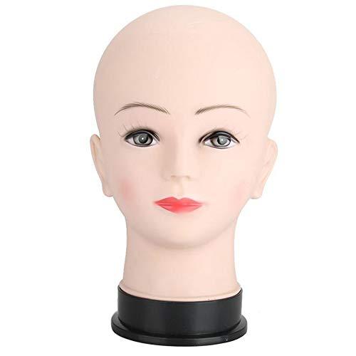 ZXCASD Tête De Mannequin en Caoutchouc Tête Plate pour L'entraînement De La Tête De Mannequin Cosméologie De Poupée De Visage Maquillage