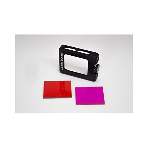 Lee Filters Bug3+ Underwater Kit Filter Set für Unterwasser-Aufnahmen mit GoPro HERO3+ oder HERO4 - inkl. 2X Unterwasserfilter (Blaufilter, Grünfilter), Filterhalter, Nylonetui und Mikrofasertuch