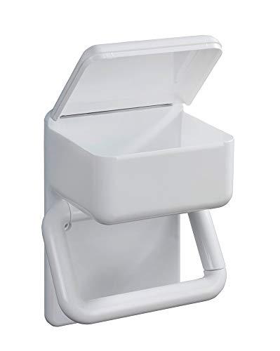 WENKO Toilettenpapierhalter 2 in 1 feuchttücher ablage Ersatzrollenhalter