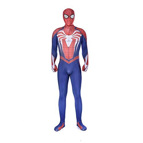 MODRYER Cosplay Traje de Halloween Batalla Ps4 Spider-Man Los Aficionados del Mono Unisex de la Impresión 3D Body Bodies Película del Super Héroe de la Técnica,Blue-Adults/XXXL 180~190cm
