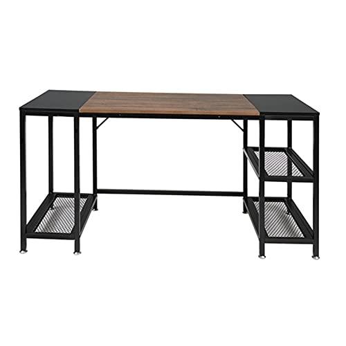 Lavagna della consolle per divano industriale, tavolo da ingresso Study Study Study Computer desktop, ingresso ACCENT, tavolo nero e tigre, colore legno
