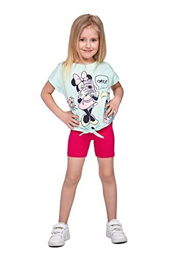 SOFTSAIL Mädchen 1/2 Länge Overknee Baumwolle Leggings Kinder Atmungsaktiv Radhose Fahrrad Tanzen Schule Hose Gr. 8-9 Jahre, rose