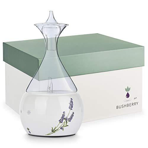 Bushberry Aromatherapie Raumduft Diffuser aus Keramik und Glas - Wasserloser Vernebler - Für Ätherische Öle – Frei von Kunst- und Gifstoffen kontakt – Professioneller und Stilvoller Aroma Diffuser