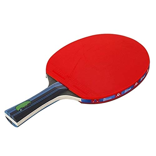 BTTNW Paleta De Ping Pong Juego de Raquetas de Tenis de Mesa 2 paletas de Pong y Bolas de Almacenamiento de Bolas de 3 Pong Se Dan La Mano Grips (Color : Red, Size : Long Handle)