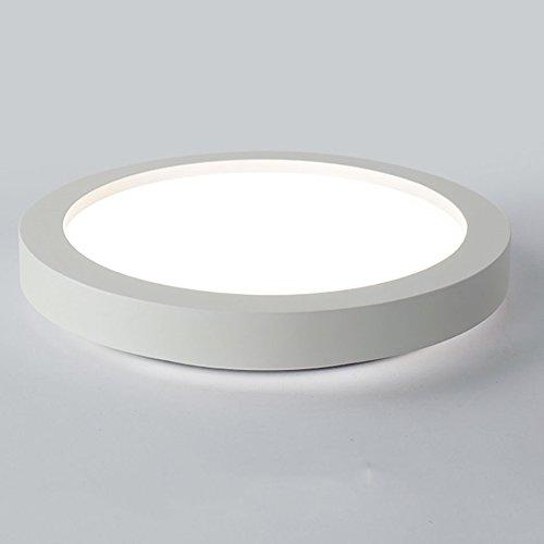 GPZ-iluminación de techo Luz de techo redonda moderna, iluminación simple del dormitorio de la sala de balcón Lámpara de comedor atmosférica elegante de la sala de estar del LED [Clase energética A ++