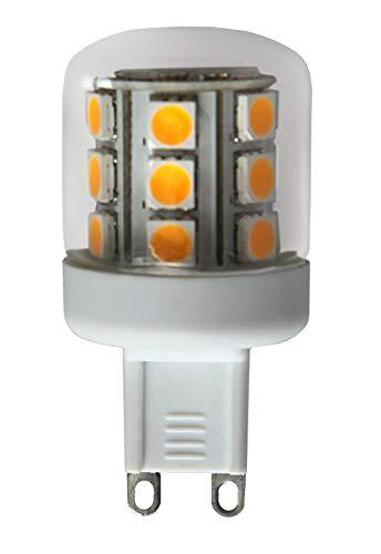 Best Season 344-01 Decoline Illumination - Lampada LED a globo con attacco G9, 2700 K, 75 Ra, 250 lm, dimensioni: 5 x 2,5 cm, 230 V, 3 W corrispondenti a 25 W, in imballo di cartone