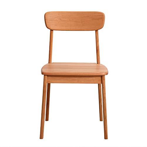 LC-SHBAGS eetkamerstoel van kersenhout, eettafel en stoelcombinatie van Scandinavisch massief hout, Fanwu net Red Wood Desk Chair