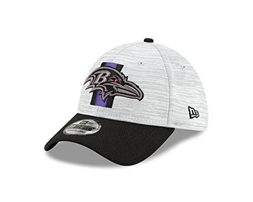 New Era Baltimore Ravens - 39Thirty Stretch Cap - NFL 2021 Training - Dolphin Grey/Black - L-XL (7 1/8-7 5/8)