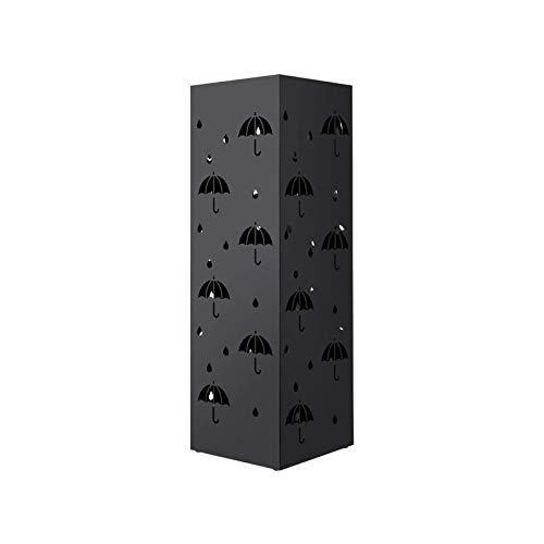 amzdeal Portaombrelli Porta Ombrelli Nero in Ferro con Modello di Piccolo Ombrello Nero, Bella Decorazione per Casa, Ufficio, Albergo ECC