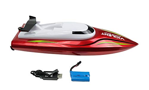 efaso 757-5002 RC Boot NQD, RTR ferngesteuertes RC Rennoot für Pool & Seen, komplett mit Fernsteuerung Akku Ladegerät RC Boat, 20 km/h, Für Kinder und Erwachsene
